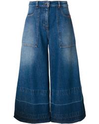 Jupe-culotte en denim bleu marine Love Moschino