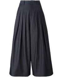 Jupe-culotte en denim bleu marine McQ by Alexander McQueen
