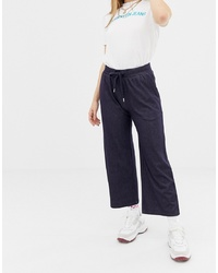 Jupe-culotte en denim bleu marine Noisy May