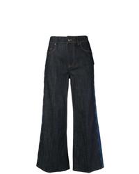 Jupe-culotte en denim bleu marine RED Valentino