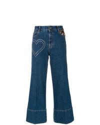 Jupe-culotte en denim bleu marine Stella McCartney