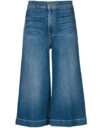 Jupe-culotte en denim bleue Frame