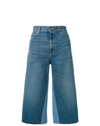 Jupe-culotte en denim bleue Gucci