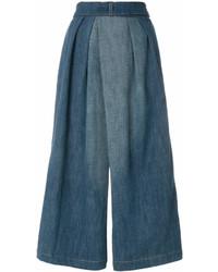 Jupe-culotte en denim bleue Loewe