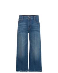 Jupe-culotte en denim bleue Stella McCartney