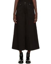 Jupe-culotte en denim noire