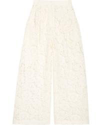 Jupe-culotte en dentelle blanche Valentino