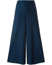 Jupe-culotte en laine bleue marine Maison Margiela