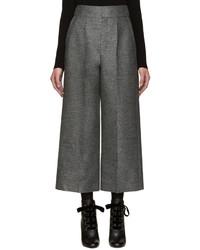 Jupe-culotte en laine gris foncé Lanvin