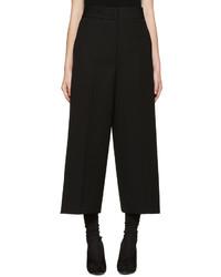 Jupe-culotte en laine noire Jil Sander