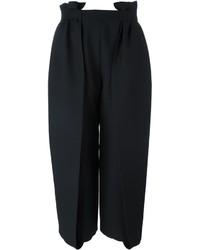 Jupe-culotte en soie noire Fendi