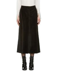 Jupe-culotte en velours noire Marc Jacobs