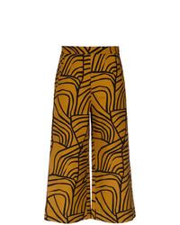 Jupe-culotte imprimée tabac Andrea Marques