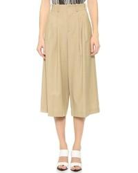Jupe-culotte marron clair