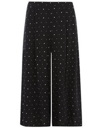 Jupe-culotte noire et blanche