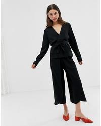 Jupe-culotte noire Ichi