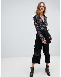 Jupe-culotte noire Vero Moda