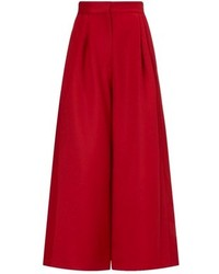 Jupe-culotte rouge