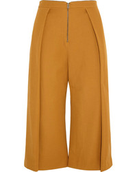 Jupe-culotte tabac