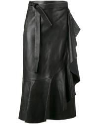 Jupe en cuir noire Helmut Lang