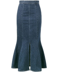 Jupe en denim bleue canard Stella McCartney