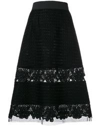 Jupe en dentelle noire Dolce & Gabbana