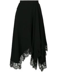Jupe en dentelle noire Givenchy