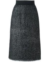 Jupe en laine noire Dolce & Gabbana
