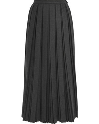 Jupe en laine plissée noire Golden Goose Deluxe Brand