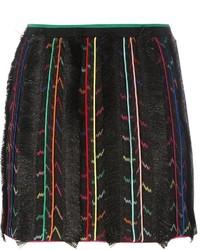 Jupe en soie à franges noire Missoni