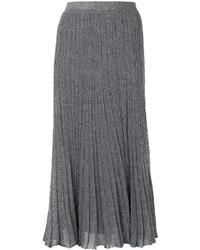 Jupe en soie plissée argentée Missoni