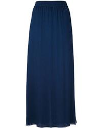 Jupe en soie plissée bleu marine Emporio Armani