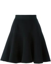 Jupe en soie plissée noire Dolce & Gabbana