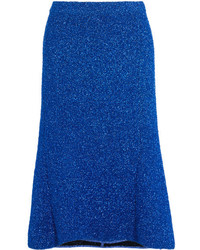 Jupe en tricot bleue Balenciaga