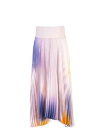 Jupe évasée imprimée tie-dye violet clair A.L.C.