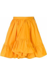 Jupe évasée orange MSGM