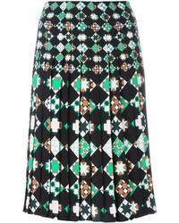 Jupe géométrique noire Emilio Pucci