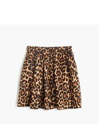 Jupe imprimée léopard marron