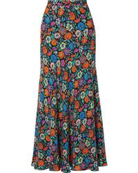 Jupe longue à fleurs multicolore