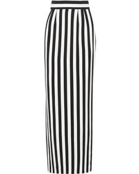 Jupe longue à rayures verticales blanche et noire Dolce & Gabbana