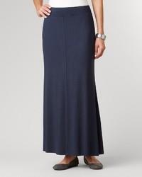 Jupe longue bleue marine original 1464549