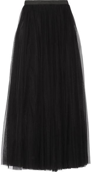5ab2f32c779a2d Jupe longue de tulle noire Needle & Thread