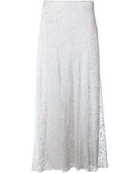 Jupe longue en dentelle blanche Isabel Marant