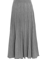 Jupe longue en laine grise Chloé
