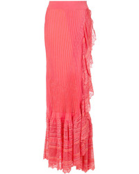 Jupe longue en tricot rouge Cecilia Prado