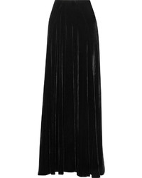 Jupe longue en velours noire Etro