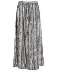 Jupe longue imprimée blanche Roxy