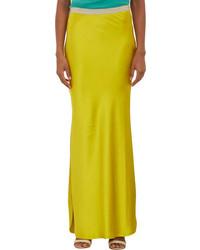Jupe longue jaune original 1467303