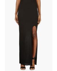 Jupe longue noire Helmut Lang