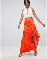 Jupe longue orange ASOS DESIGN